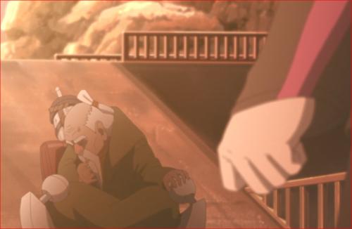 BORUTO84話、突然苦しみ出すオオノキ