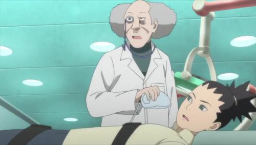 Boruto 85_シカダイに麻酔をしようとするドクター