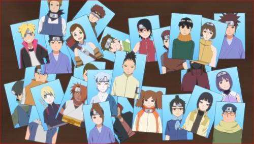 アニメBORUTO112話、アイキャッチ、中忍試験参加者