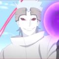アニメBORUTO120話、アイキャッチ画像、サスケのチャクラを手にするウラシキ
