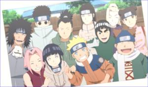 アニメBORUTO第127話、少年期のナルトと同期生の集合写真