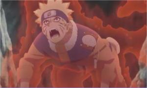 アニメBORUTO131話、アイキャッチ画像、尾獣化した少年ナルト