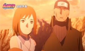 アニメBORUTO第139話、アイキャッチ画像、鬼熊エンコと森乃イビキ