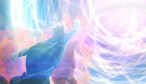 アニメBORUTO135話、アイキャッチ画像、少年ナルトとボルトの大玉螺旋丸