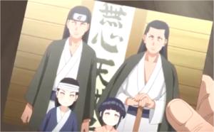 アニメBORUTO138話、日向ヒアシ、ヒザシとその子、幼少期のハナビとネジ