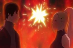 アニメBORUTO140話、アイキャッチ画像、しのVSサイの夫婦げんか勃発w