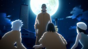 アニメBORUTO第147話、アイキャッチ画像、ツキヨと対峙する第七班