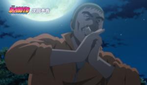 アニメBORUTO147話、アイキャッチ画像、月下の術をかけるツキヨ
