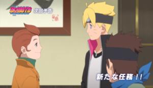 アニメBORUTO148話、アイキャッチ画像、ボルトとテントウ
