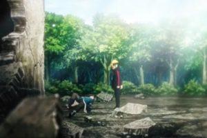 アニメBORUTO186話、アイキャッチ画像、青を撃破したボルト