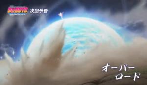 アニメBORUTO198話、アイキャッチ画像、ナルトがデルタに放つ極大螺旋丸