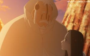 アニメBORUTO202話、アイキャッチ画像、ポロと少女